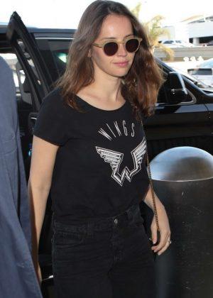 Felicity Jones at LAX International Airport in LA