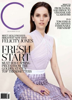 Felicity Jones - California Style US Cover (March 2015)