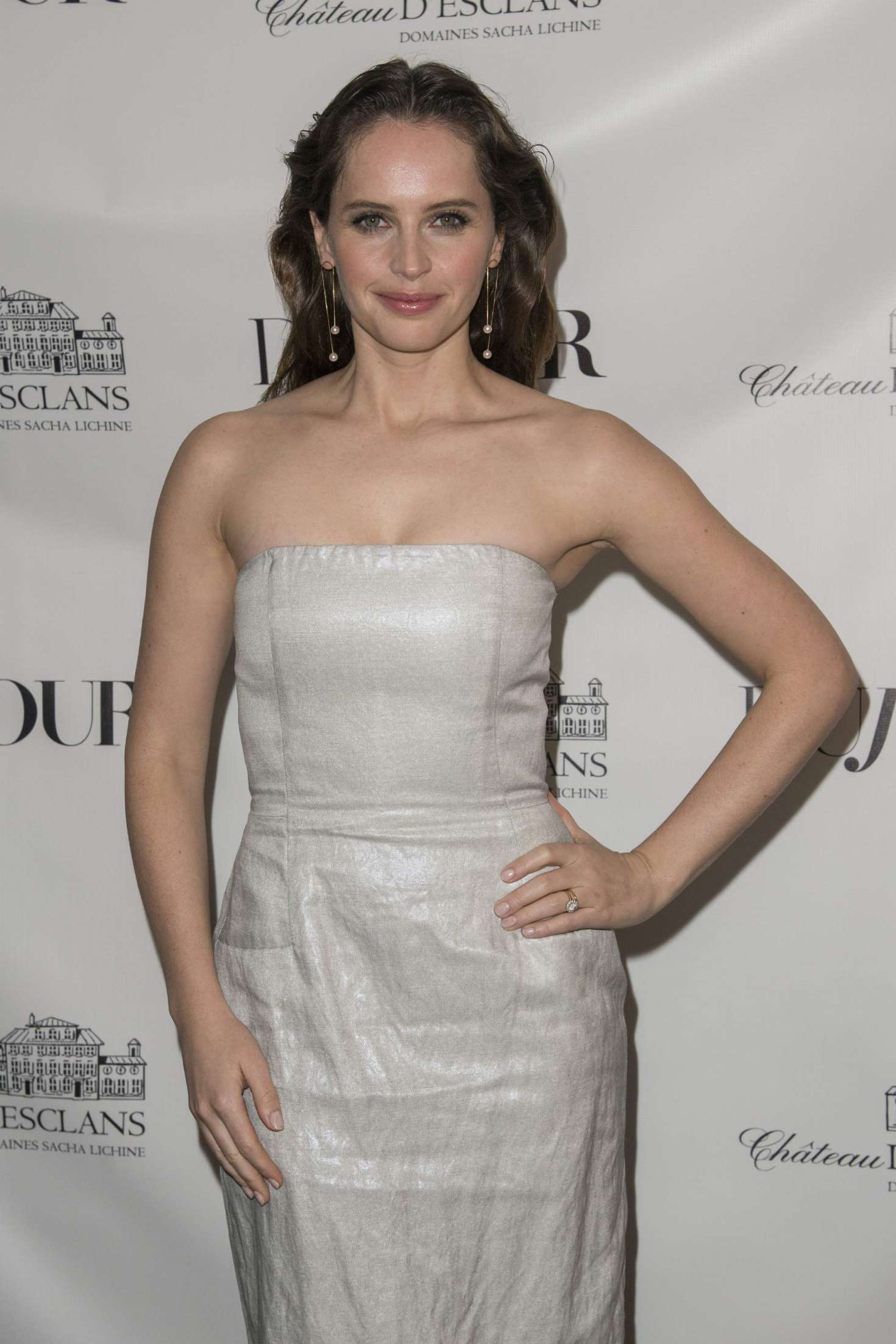Felicity Jones – DuJour Winter Issue Celebration in NYC