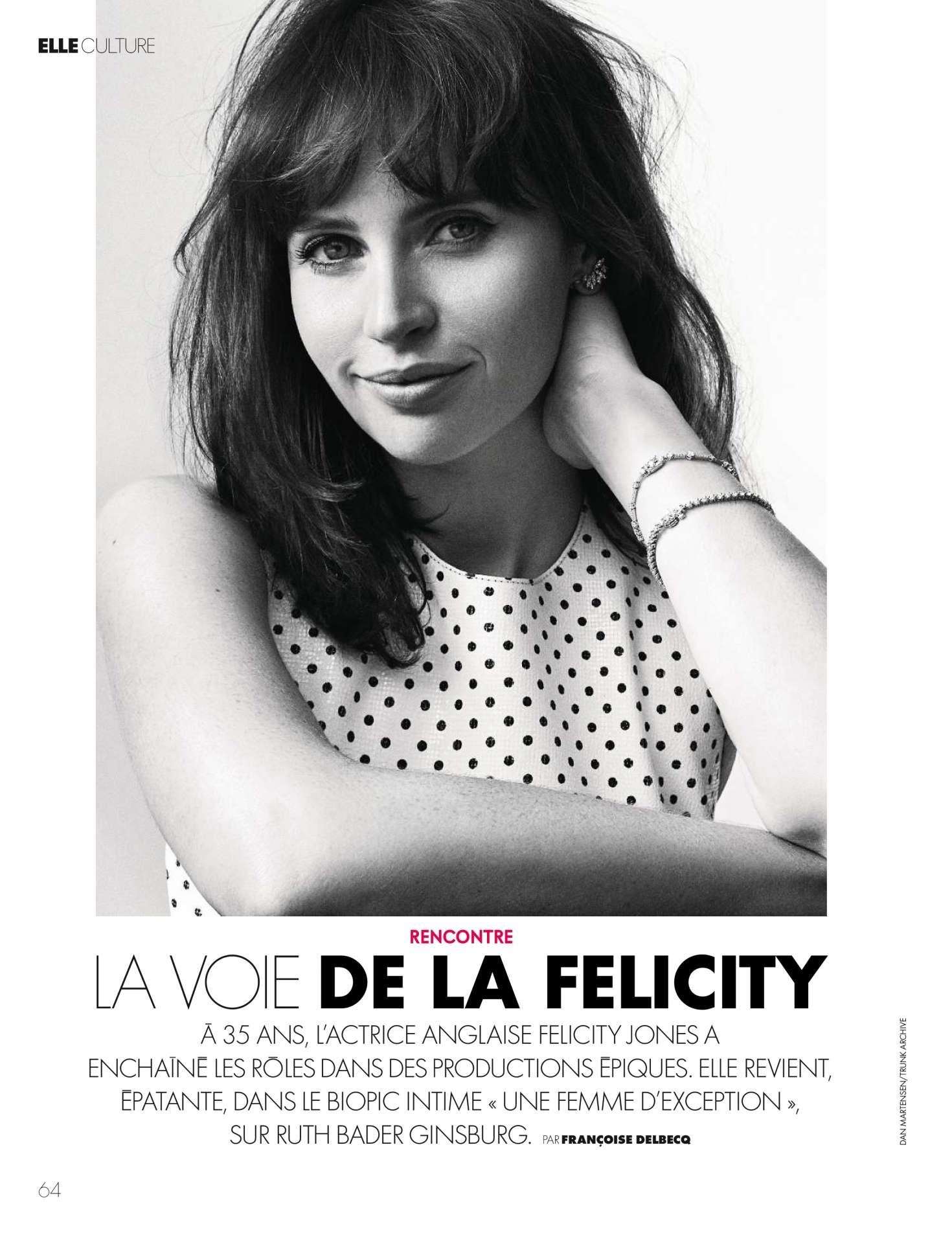 Felicity Jones - Elle France Magazine (December 2018)