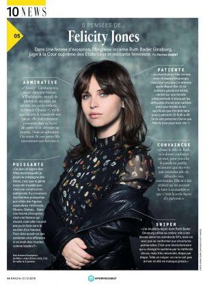 Felicity Jones - Grazia France Magazine (December 2018)
