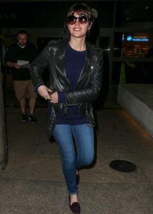 Felicity Jones in Jeans at LAX airport in LA