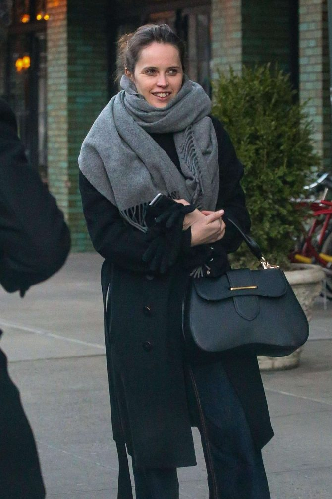 Felicity Jones – Leaving her hotel in New York