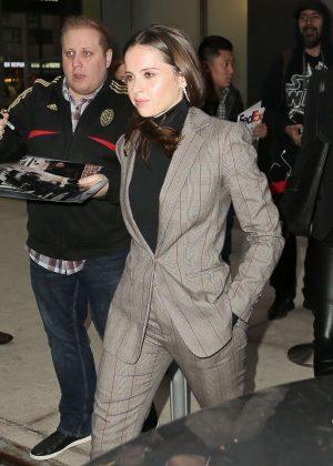 Felicity Jones - Leaving her hotel in NYC