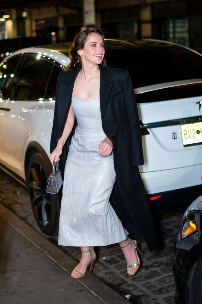 Felicity Jones - Night out in New York City