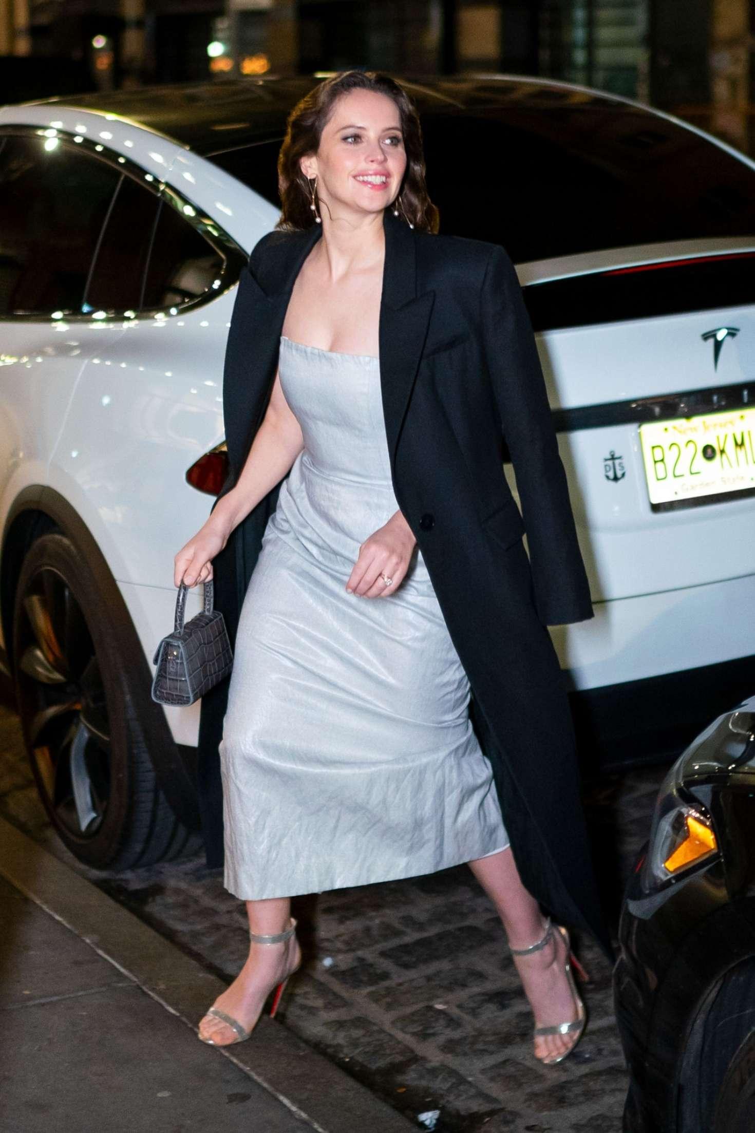 Felicity Jones 2018 : Felicity Jones: Night out in New York City -13