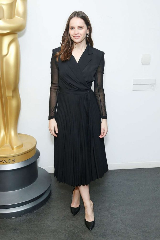 Felicity Jones - Official Academy Screening of 'On The Basis Of Sex' in NYC