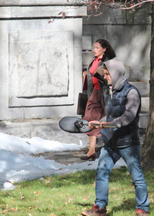 Felicity Jones on the set of 'On The Basis Of Sex' in Montreal