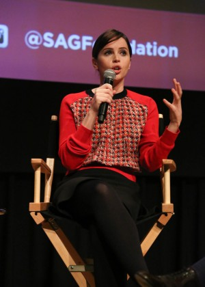 Felicity Jones - SAG Foundation Conversations: 'The Theory of Everything' in NY