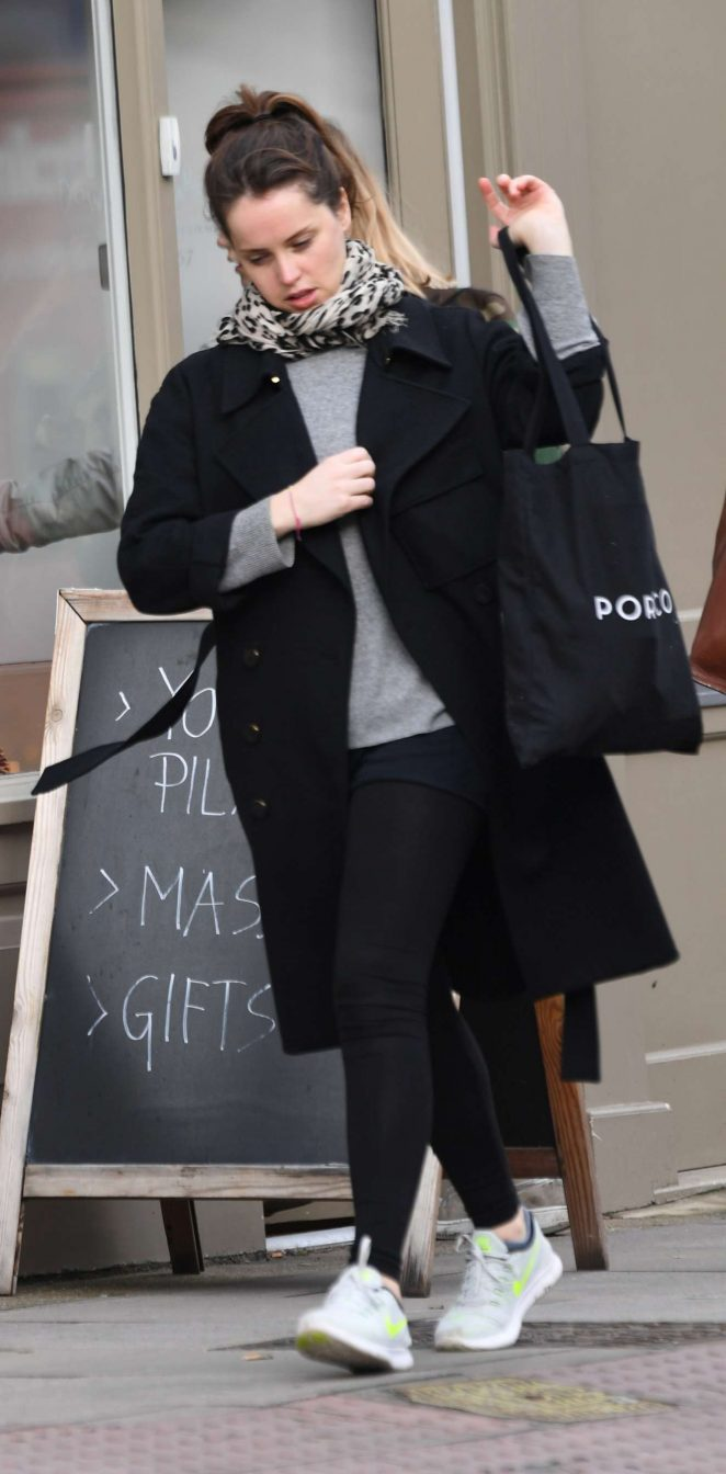 Felicity Jones - Seen out and about In London