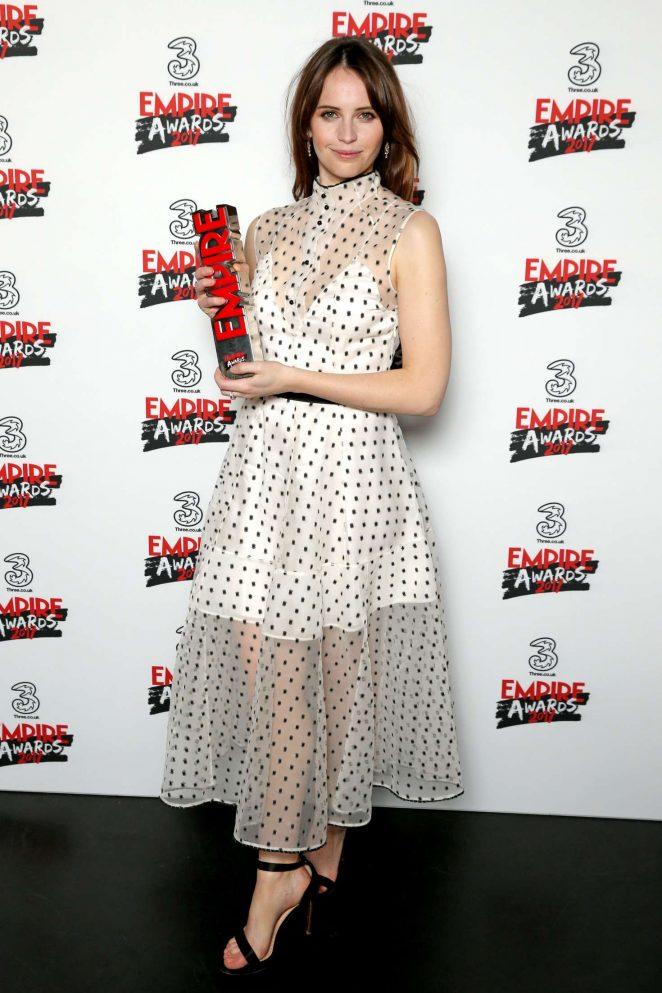 Felicity Jones: Three Empire Awards 2017 -05
