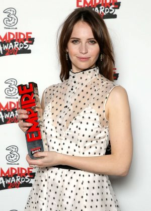 Felicity Jones - Three Empire Awards 2017 in London