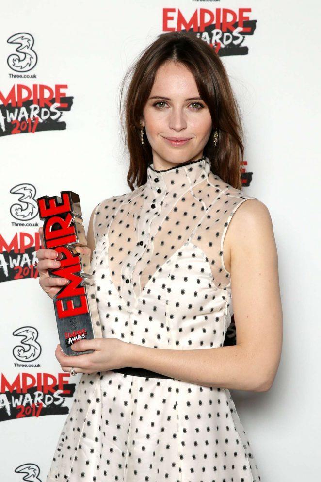 Felicity Jones - Three Empire Awards 2017 in London