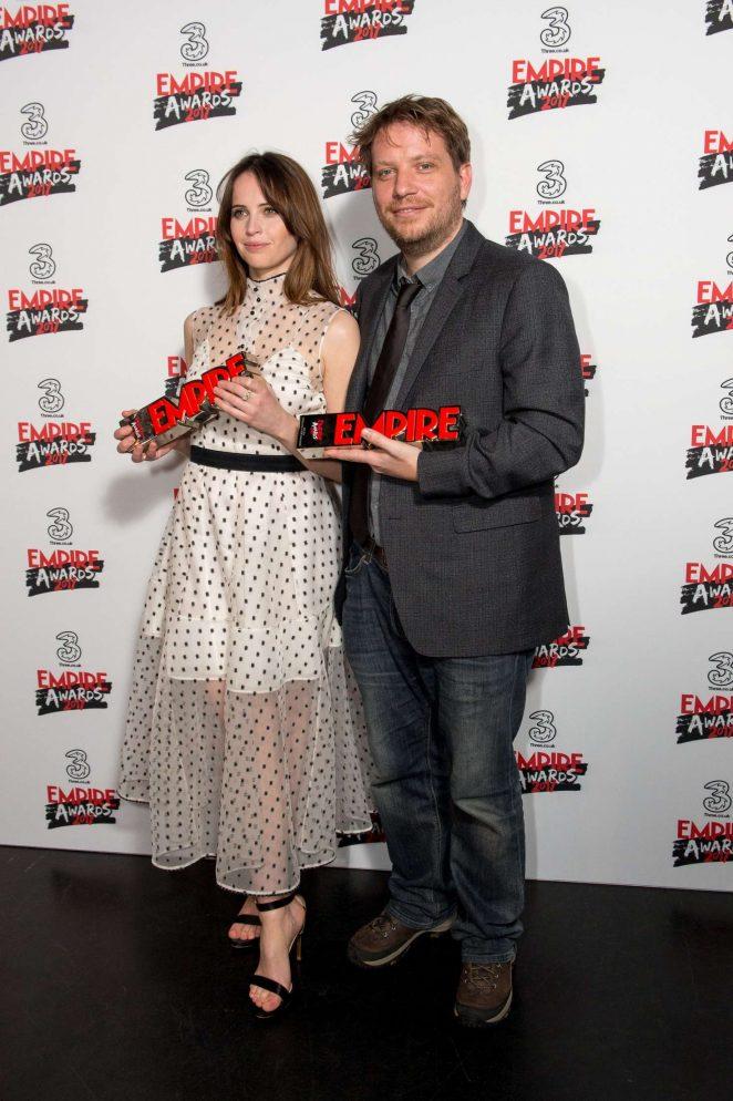 Felicity Jones: Three Empire Awards 2017 -14