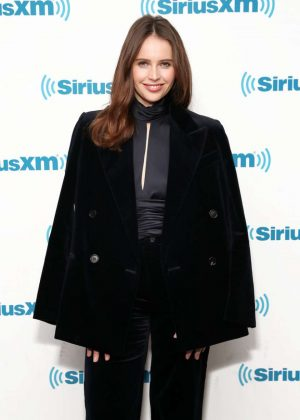 Felicity Jones - Visits the SiriusXM Studios in New York City