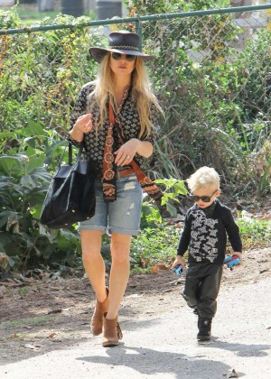 Fergie and son Axl Out in LA
