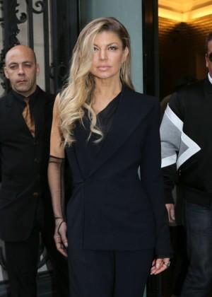 Fergie - Arrivals at Haute Couture Fashion Show Jean Paul Gaultier Spring Summer 2016 in Paris