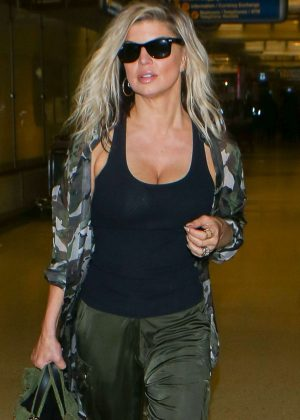 Fergie - Arrives at LAX Airport in Los Angeles
