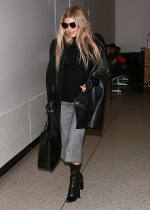 Fergie - Arriving at LAX Airport in LA