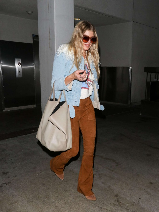 Fergie at LAX Airport in LA