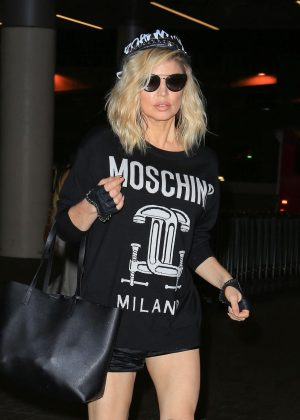Fergie at LAX airport in Los Angeles