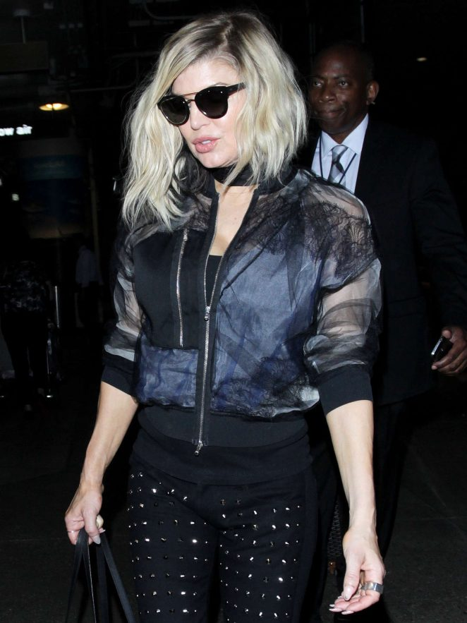 Fergie at Los Angeles International Airport