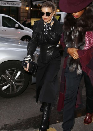 Fergie goes to the Costes Hotel in Paris