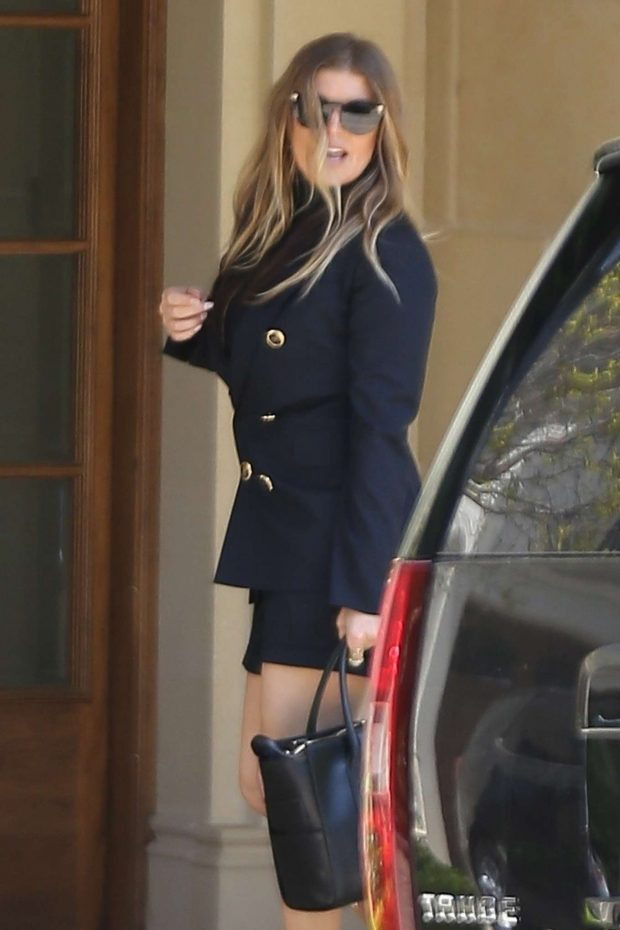 Fergie: Heads to Church on Easter Sunday -07