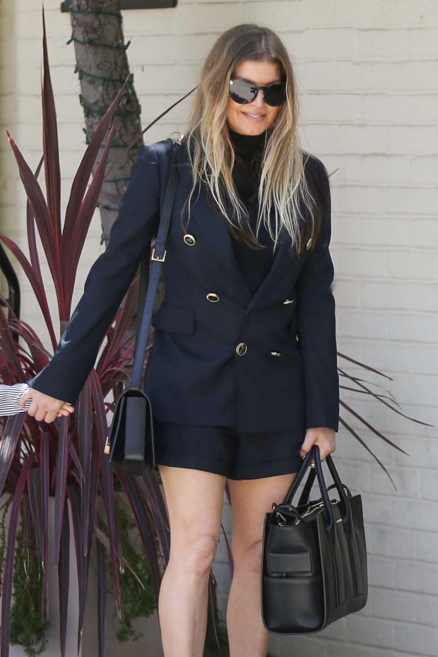 Fergie - Heads to Church on Easter Sunday in Los Angeles