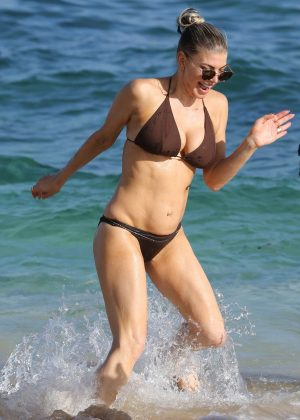 Fergie in Bikini on the beach in Kauai