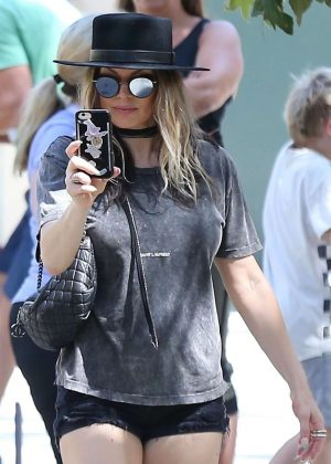 Fergie in Black Shorts - Out in Los Angeles