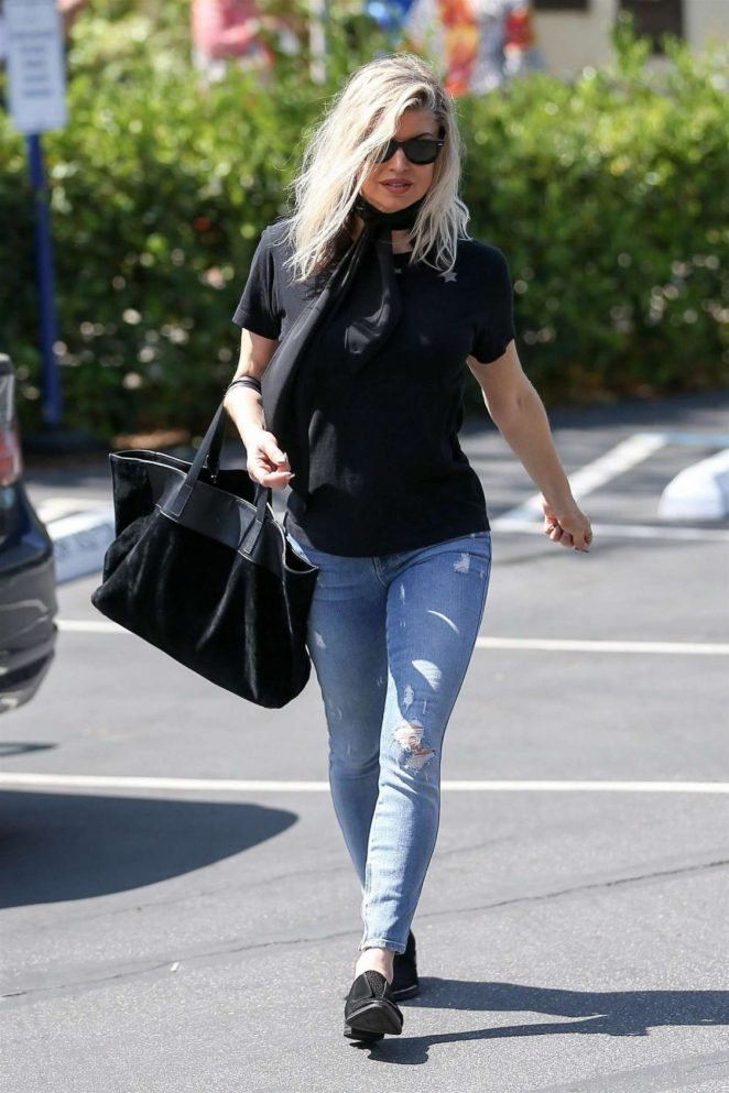 Fergie in Jeans Out in Brentwood
