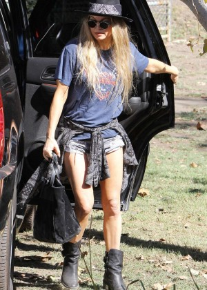 Fergie in Shorts Out in Brentwood