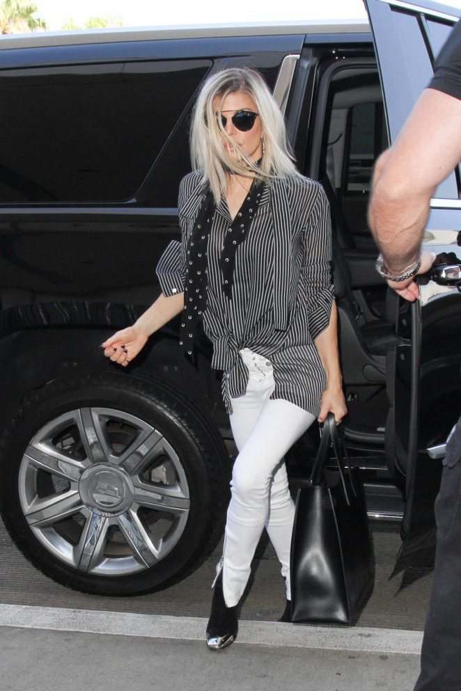 Fergie in Tight Pants at LAX in Los Angeles