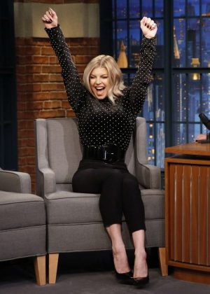 Fergie on 'Late Night with Seth Meyers' in New York City