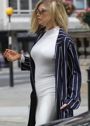 Fergie out and about in London