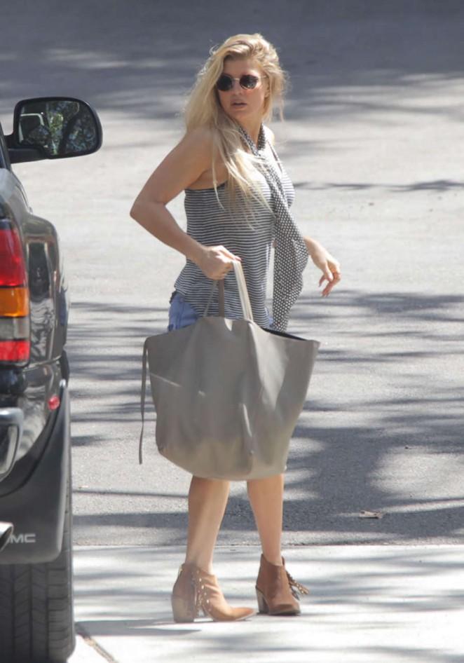 Fergie in Jeans Shorts -05