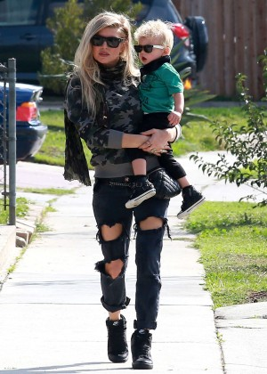 Fergie in Ripped Jeans Out in La Habra