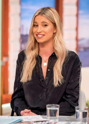 Ferne Mccann on 'Good Morning Britain' TV Show in London