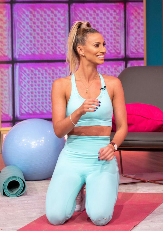 Ferne McCann - On 'This Morning' TV Show in London