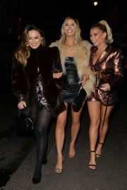 Ferne McCann, Sam and Billie Faiers - Leaving Baglatelle Restaurant in Mayfair