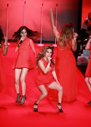 Fifth Harmony - Go Red For Women Red Dress Collection 2015 in NYC