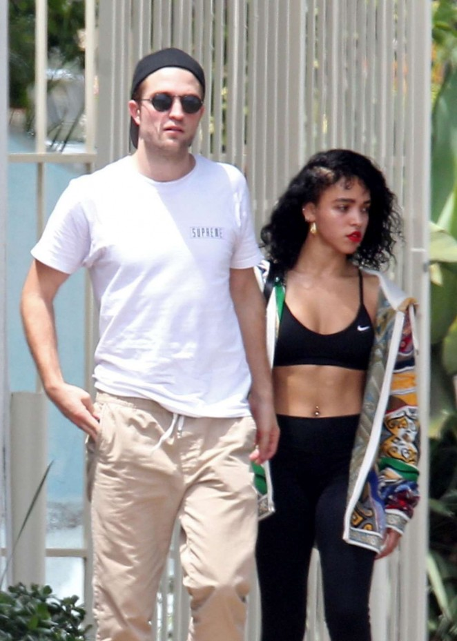 Fka Twigs in Sports Bra and Tights Leaving a Gym in LA