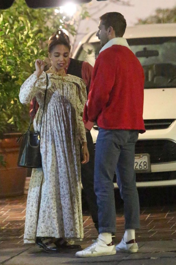 FKA Twigs and Shia LaBeouf – Out for a Christmas Eve dinner in Los Feliz