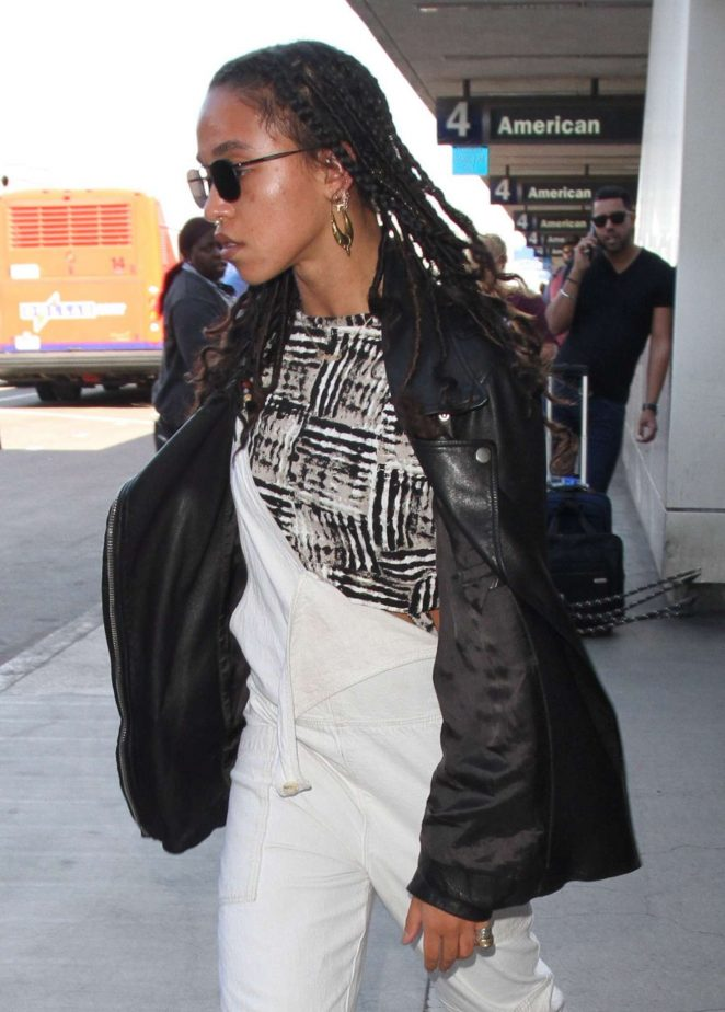 FKA Twigs in Leather Jacket out in Los Angeles