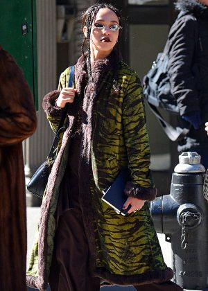 FKA Twigs in Long Coat out in Los Angeles