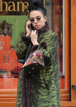 FKA Twigs out shopping in Soho