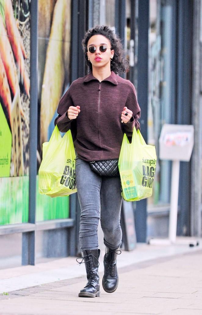 FKA Twigs Shopping in Hackney