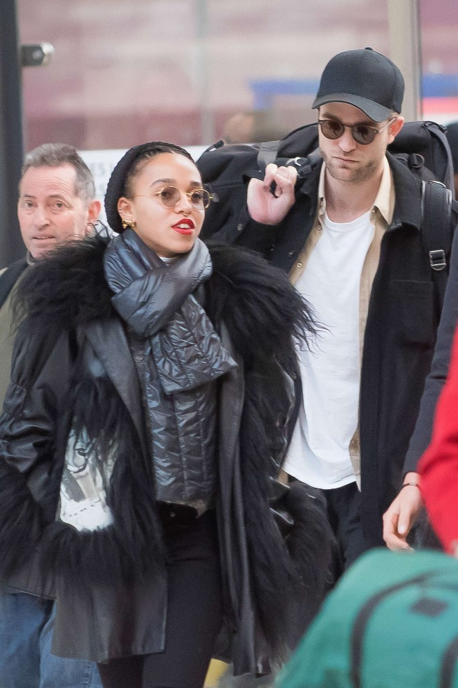 FKA Twigs With Robert Pattinson Out in Paris