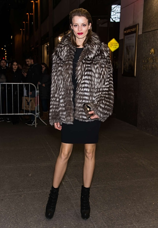 Flavia Lucini - Arrives at V Magazine Party 2016 in New York
